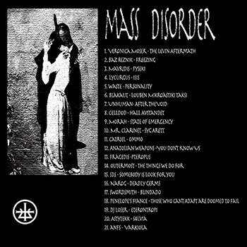 Cover Mass Disorder Compilation Phormix label Athenes